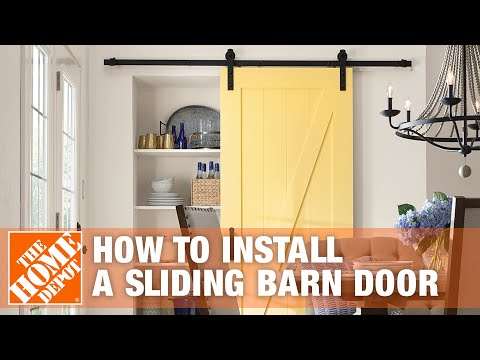 How to Install Barn Doors - The Home Depot
