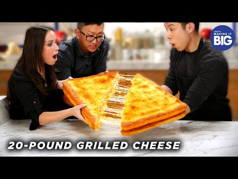 I Made A Giant 20-Pound Grilled Cheese For HellthyJunkFood ?Tasty