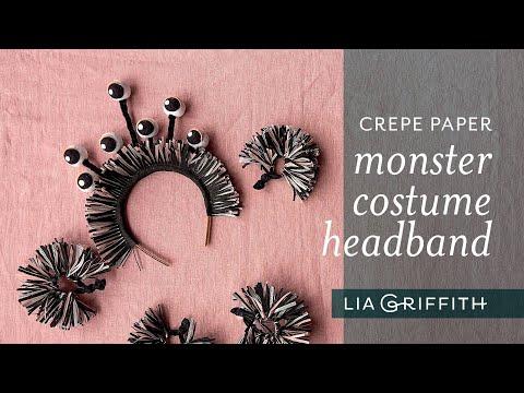 Crepe Paper Monster Costume Headband