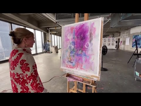 Artists paint, and heal, high above lower Manhattan