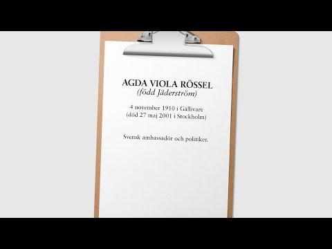 Agda Rössel (1910-2001)