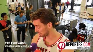 Bulls Media Day a Pau Gasol lo trajo Derrick Rose a los Chicago Bulls