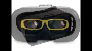 Luxury Virtual Reality 3D VR BOX Glasses Headset for Smartphones with Remote Controller