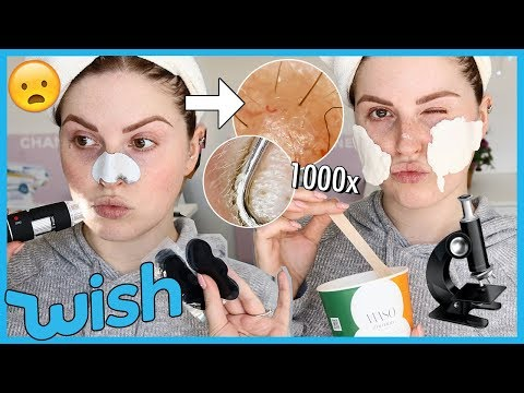 Trying WISH PORE STRIPS under a MICROSCOPE! ? & more!