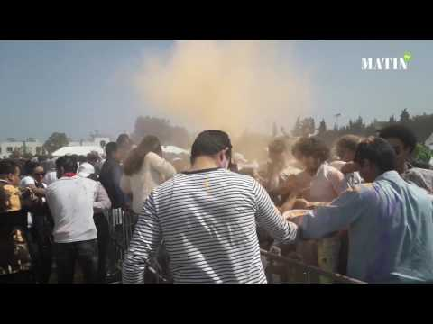 Ambiance de fête au Festival Holi à Casablanca