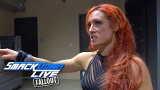 Becky Lynch is not disappointed, she's disgusted: SmackDown LIVE Fallout, Jan. 17, 2017