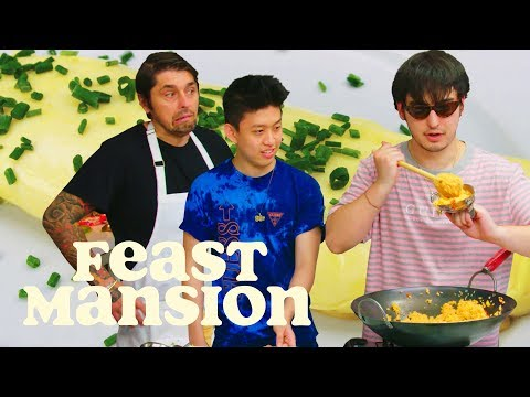 Feast Mansion S1: E#3 - Joji and Rich Brian Get an Omelette Master Class from a French Chef | Feast Mansion