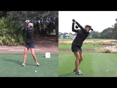 LEXI THOMPSON DUAL ANGLE SLOW MOTION DRIVER GOLF SWING