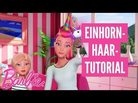 Einhorn-Haar-Tutorial 🦄✌️💖#BarbieVlog 💖Barbie Deutsch