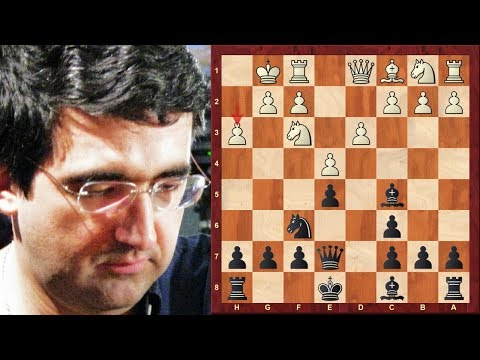 Vladimir Kramnik's most outrageously direct attacking chess game!