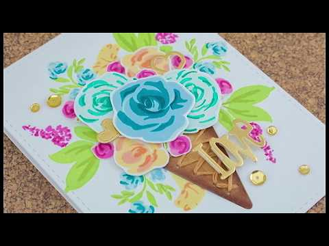 Floral Ice Cream Bouquet Card w/Cynde Whitlow