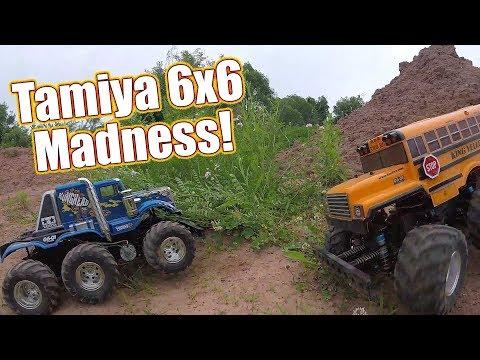 RC 6x6 Madness! Tamiya King Yellow & Konghead G6-01 Bash Session | RC Driver