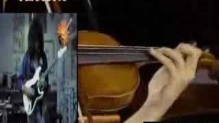 Paganini 5th Caprice  - Violin vs Guitar ( Jason Becker )