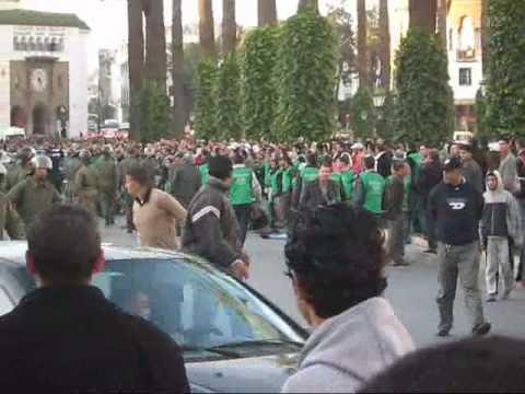 Proteste in Rabat.wmv