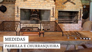 MEDIDAS DA PARRILLA E CHURRASQUEIRA