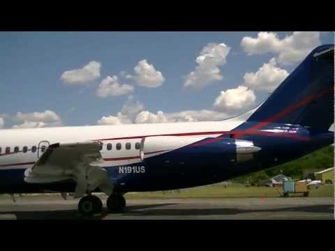 USA Jet DC-9-15 parked at Willow Run (KYIP) [N191US] HD *1080p*