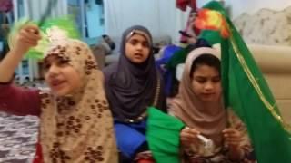 Child reciting naat... in the children's Meelad. .