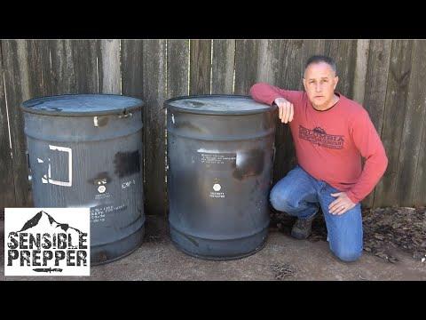 U S  Military Surplus 58 Gallon Drums