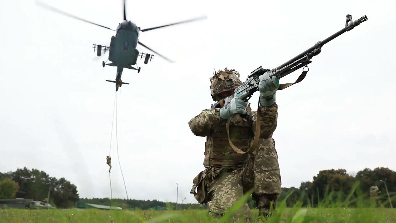 Ukrainian Forces • Fast Rope Training • Yavoriv, Ukraine