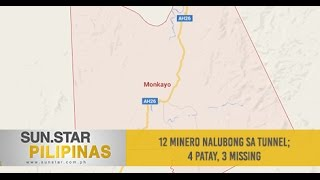 12 minero nalubong sa tunnel; 4 patay, 3 missing