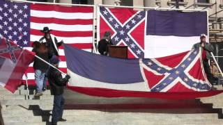"Confederate National Anthem ""God Save The South"" sung at Jackson Mississippi"