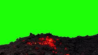 Real Hot Lava Rock Glowing GREEN SCREEN [FREE USE]