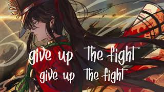 Nightcore → White Flag (lyrics)
