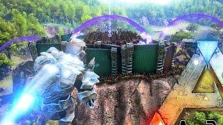 ARK Survival Evolved - MASSIVE TEK TIER ALPHA TRIBE BASE RAIDED BY EPIC ARMY - PVP Raiding Gameplay