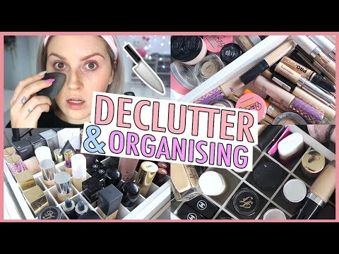 Foundation & Concealer ? ORGANIZE AND DECLUTTER MY MAKEUP COLLECTION! ? 2018