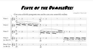 """""""Flute of the BumbleBee!"""" for Flute Choir (with score)"""