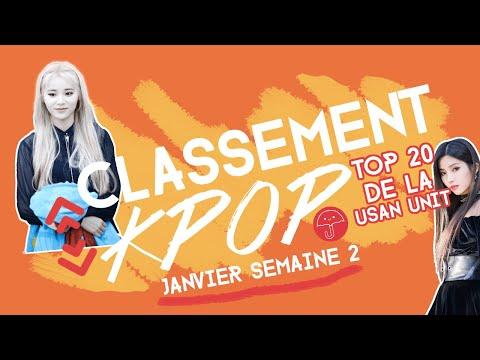 Vidéo TOP 20 CLASSEMENT KPOP  Janvier 2021 Semaine 2