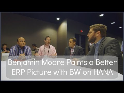 Benjamin Moore Paints a Better ERP Picture with BW on HANA