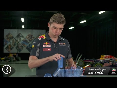 The Red Bull Racing 1.92 Second Challenge: Cups! - Max Verstappen