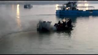 Boat sank in Ganga