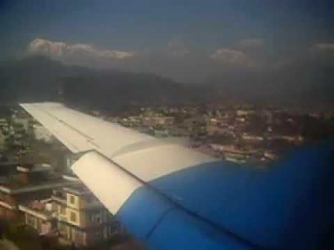 Nepal flight from Kathmandu to Pokhara Part 2/2 (landing in PKR)