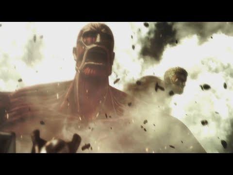 Reiner Bertholdt & Eren Titan Transformation - Attack on Titan 2 (PS4 Pro)