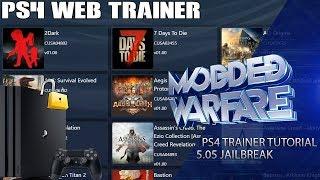 PS4 Web Trainer Tutorial (5.05 Jailbreak)