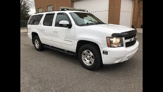 2011 Chevy Suburban LT K1500 Extended 4x4 :Used Command Vehicle For Sale: