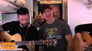 Creed's Scott Stapp performs on Mango Flight JE145