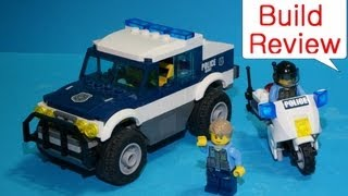 Lego Police Car Toys : Lego 60007  High Speed Chase Stop Motion Build.