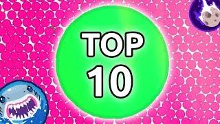 أكبر 5 لقطات دعس في لعبة أقاريو سلسلة جديدة توب 10 🔥 | (TOP10Agar io (Agar.io Best moment