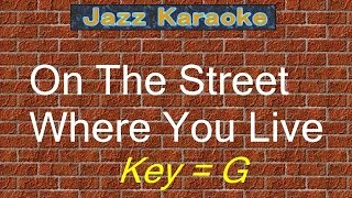 "JazzKara  ""On The Street Where You Live"" (Key=G)"