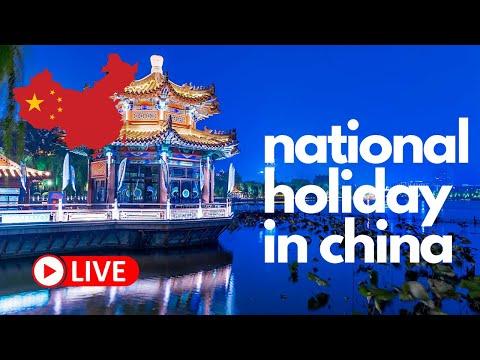 🔴 Celebrating the National Holiday in China (Jinan)