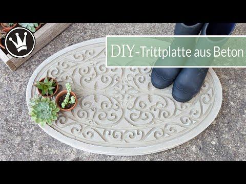 DIY – BETON Trittplatte selber machen | Gartendeko aus Beton | ANKÜNDIGUNG meines NEUEN PROJEKTES !