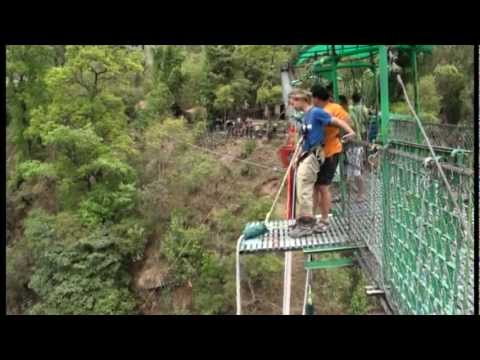 Simon's Bungy Jump @ The Last Resort, Nepal