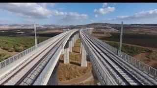 Tel Aviv - Jerusalem rapid train construction: electrification width=
