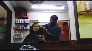 Indian girl Headshave in Barbershop - Susan Hair Donation width=