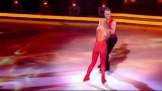Jennifer Ellison cuts head open with skate on Dancing On Ice - 12th February 2012