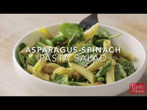 Asparagus Spinach Pasta Salad