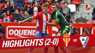 Resumen de Real Sporting vs SD Eibar (2-0)